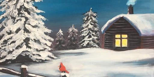 Christmas Paint Party  'Winter Hideaway' The Windmill, Orton Waterville