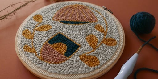 Beginner punch needle embroidery workshop