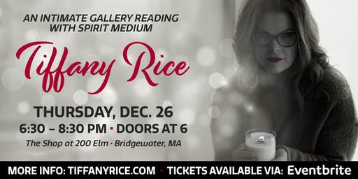 Holiday Gallery Reading with Tiffany Rice in December