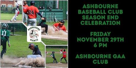Ashbourne Baseball Club Season End Celebration tickets