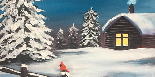 Christmas Paint Party Event - 'Winter Hideaway' at The Falcon, Whittlesey