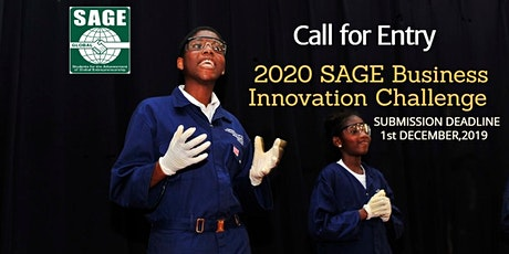 CALL FOR ENTRY : 2020 SAGE Business Innovation Challenge tickets