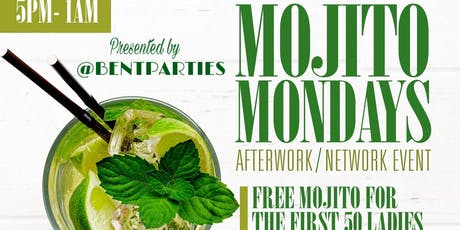 Mojito Mondays AfterWork at Jimmy's; Happy Hour Free Mojitos for First 50 Ladies tickets