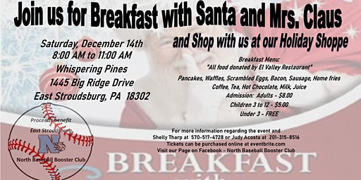Breakfast With Santa and Holiday Shoppe