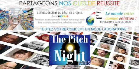 "Pitch night Paris spécial ""RETAIL"" billets"