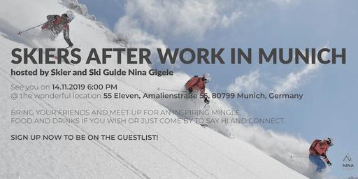 SKIERS AFTER WORK IN MUNICH