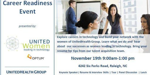 Optum Career Readiness Event - Women In Technology (Raleigh, NC)