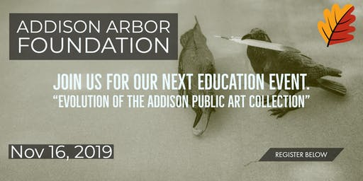 Education Event: The Evolution of the Addison Public Art Collection