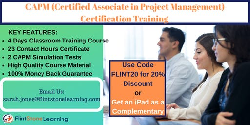 CAPM (Certified Associate in Project Management) Certification Training in Alpine, TX