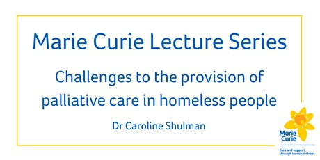 What is needed to improve palliative care for people who are homeless? tickets