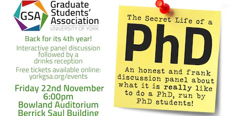 Secret Life of a PhD 2019 tickets