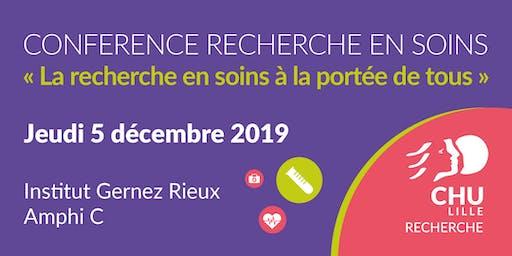 Conférence Recherche en Soins - Edition 2019