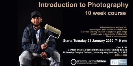 Introduction to Photography 10 week evening course in Oldham tickets