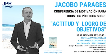 Conferencia de Jacobo Parages entradas