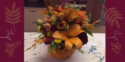 Thanksgiving Floral Centerpiece Workshop at Bel Air Florist!