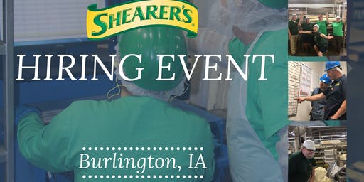 HIRING EVENT! Shearer's Foods- Burlington