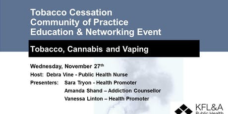 Tobacco Cessation Community of Practice Education & Networking Event tickets