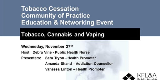 Tobacco Cessation Community of Practice Education & Networking Event