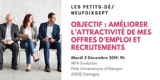 Améliorer l'attractivité de mes offres d'emploi et recrutements (Alençon)