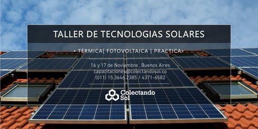 Taller de Tecnologías Solares/ Buenos Aires Noviembre 2019