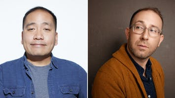 Comedians Kevin Camia and Louis Katz
