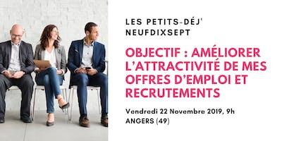Améliorer l'attractivité de mes offres d'emploi et recrutements (Angers)