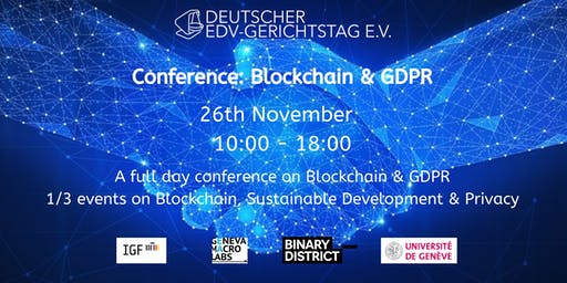 A full day conference on Blockchain & GDPR