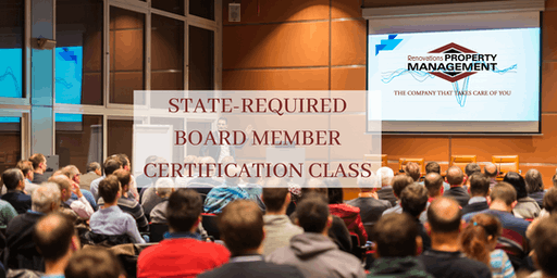 FREE STATE-REQUIRED BOARD MEMBER CERTIFICATION CLASS
