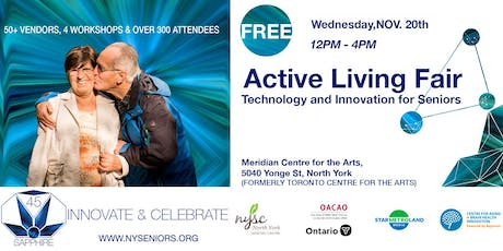 Active Living Fair, Technology and Innovation for Seniors tickets