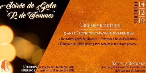 """Soirée de Gala """"R de Femmes"""" : 5 ans d'actions en faveur des femmes !"""