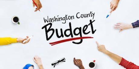 Comentarios Sobre el Presupuesto de Washington County  entradas
