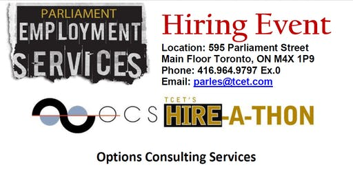 HIRING EVENT: Options Consulting Solutions
