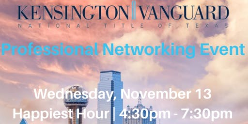 Kensington Vanguard National Title Professional Networking Event