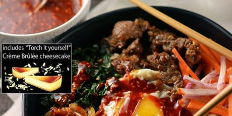 Date Night: Korean Food Cooking Class w. Interactive Dessert (+wine) tickets