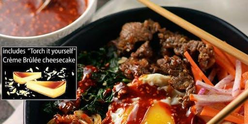 Korean Food Cooking Class w. Interactive Dessert (+wine)