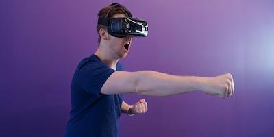 Session de VR et de jeu vidéo en ligne