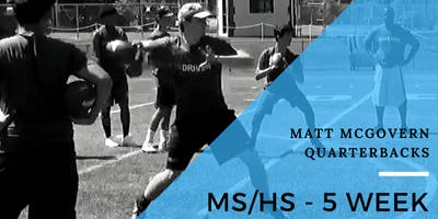 Middle School and High School 5 Week Winter Training Program