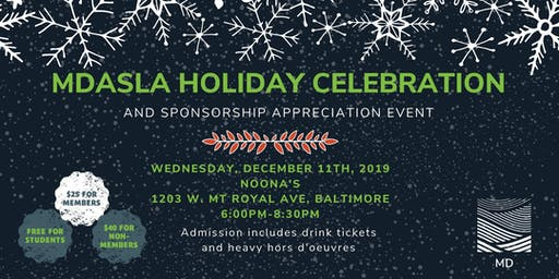 Maryland ASLA - Holiday Celebration