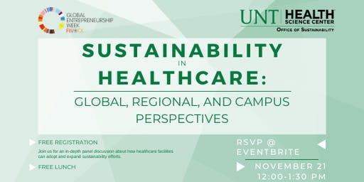 Sustainability in Healthcare: Global, Regional, and Campus Perspectives