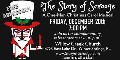 The Story of Scrooge: A One-Man Christmas Carol Musical tickets