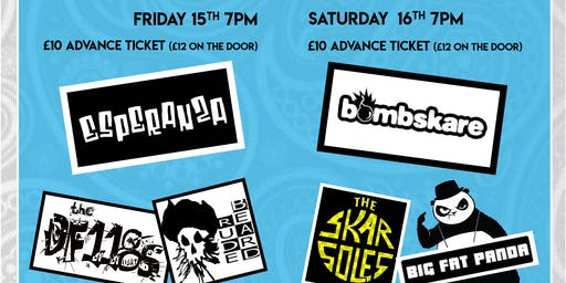Bombskare, Big Fat Panda and The Skarsoles at SKASTUFF PAISLEY Saturday Evening
