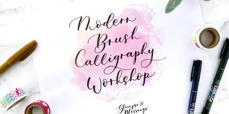Modern Brush Calligraphy Workshop [Christmas Holiday Card and Art] tickets
