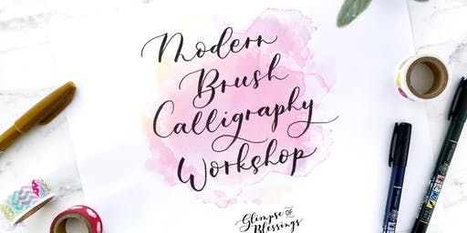 Modern Brush Calligraphy Workshop [Christmas Holiday Card and Art]