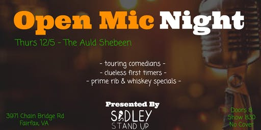 Auld Shebeen Open Mic Night [stand-up comedy]