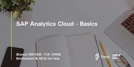 SAP Analytics Cloud Basics tickets