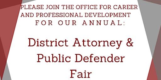 District Attorney and Public Defender Career Fair