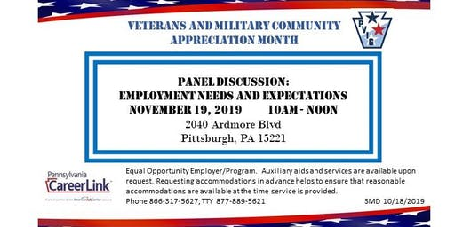 Veterans and Military Community: Panel Discussion