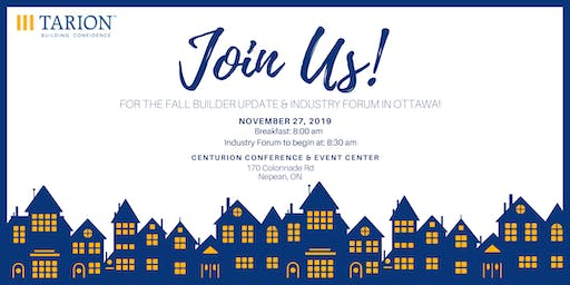 Fall 2019 Builder Update and Industry Forum - Ottawa