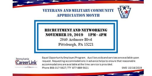 Veterans and Military Community: Recruitment and Networking