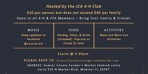 Movie Night - Hosted by JCA 4-H Club